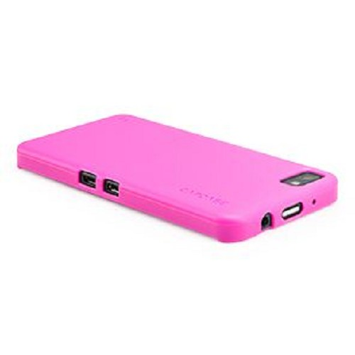 CAPDASE Soft Jacket for BB Z10 [SJBBZ10-P2YP-BB] - Solid Fuchsia - Casing Handphone / Case